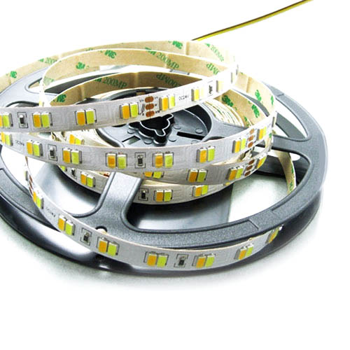Color Temperature Pure White+Warm White Series DC12V 5630SMD 560LEDs Flexible LED Strip Lights TV BackLighting 16.4ft Per Reel By Sale